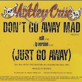 Motley Crue - Don't Go Away Mad