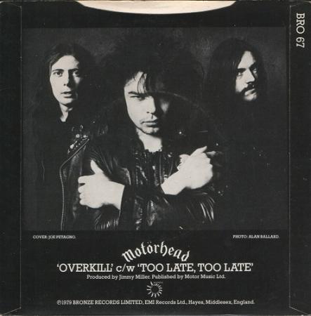 Motörhead - Too late, too late